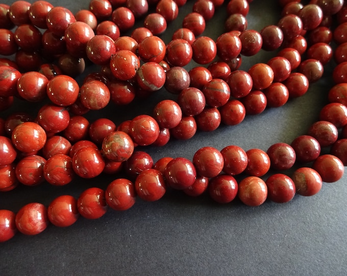15.5 Inch Natural Red Jasper Bead Strand, About 47 Ball Beads, 8mm Stone Beads, Natural Gemstone Bead, Strand Of High Quality Jasper
