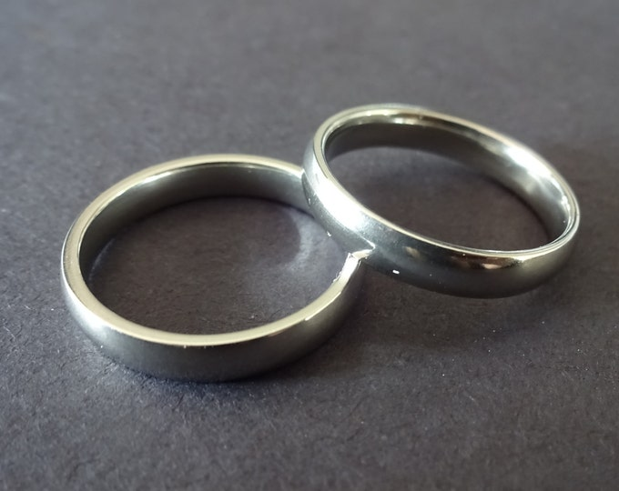Simple Stainless Steel Ring, Basic Band, Size 7-11, Handcrafted Steel Ring, Men's Ring, Unisex Jewelry, Wedding Band, Engagement Ring