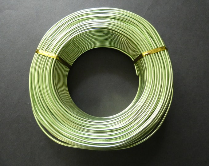 55 Meters Of 2mm Light Green Aluminum Jewelry Wire, 2mm Diameter, 500 Grams Beading Wire, Green Metal Wire, Jewelry Making & Wire Wrapping