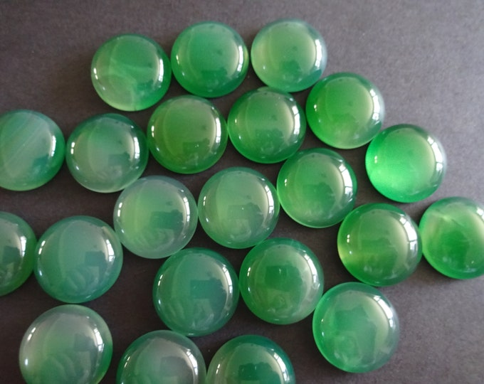 20mm Natural Onyx Green Agate Gemstone Cabochon, Round Cabochon, Polished Gem, Gem Cabochon, Natural Gemstone, Polished, Natural Agate
