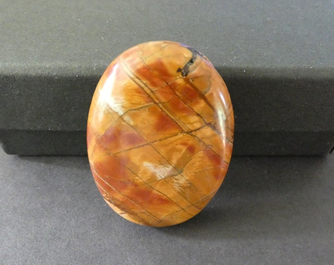 40x30mm Natural Picasso Jasper Cabochon, Large Oval, Brown, One Of A Kind, As Seen In Image, Only One Available, Striped Jasper Cab