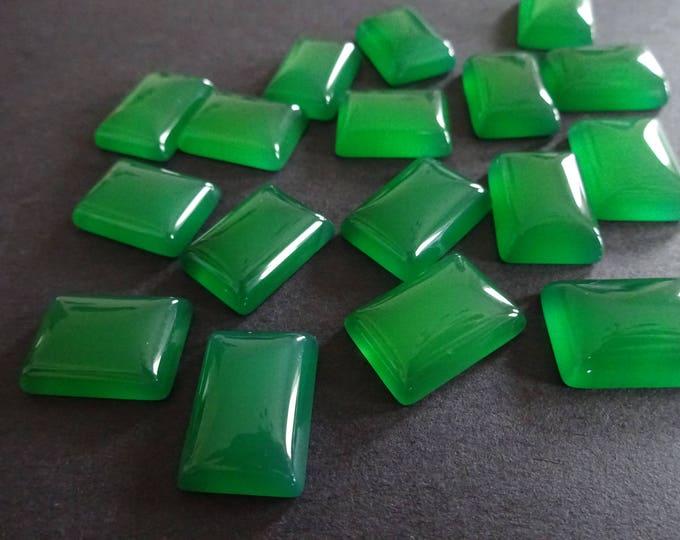18x13x6mm Natural Green Agate Gemstone Cabochon, Rectangle Cabochon, Polished, Stone Cabochon, Natural Gemstone, Agate Cabachon, Green Gem