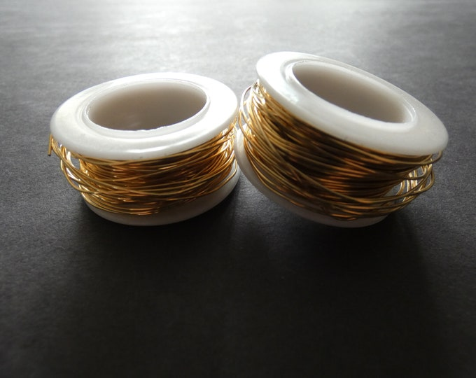 10 METERS Of Stainless Steel Wire Cord, .7mm Cord, Gold Color, Bulk Lot, Spool Of Necklace Wire, Great For Crafts & Jewelry Making