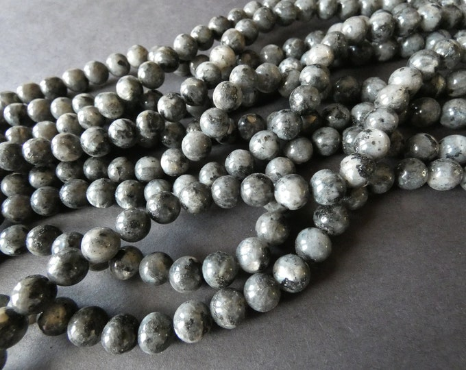 15.5 Inch 8mm Natural Labradorite Ball Bead Strand, About 48 Nugget Beads, Natural  Polished Gemstone, Translucent Gray Stone Bead, Hand Cut