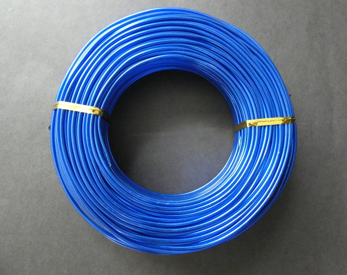 55 Meters Of 2mm Blue Aluminum Jewelry Wire, 2mm Diameter, 500 Grams Of Beading Wire, Royal Blue Metal Wire, Jewelry Making & Wire Wrapping