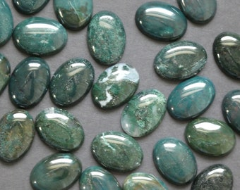 Semi Precious Handcraft Stone For Jewelry Very Rare Top Quality Moss Agate Loose Gemstone Natural Green Moss Agate Cabochon 61 Ct #972