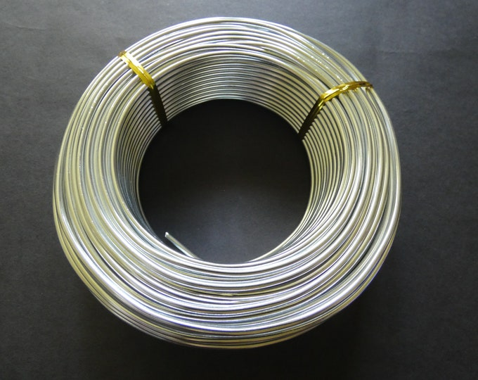 35 Meters Of 2.5mm Silver Aluminum Jewelry Wire, 2.5mm Diameter, 500 Grams Beading Wire, Silver Metal Wire, Jewelry Making & Wire Wrapping