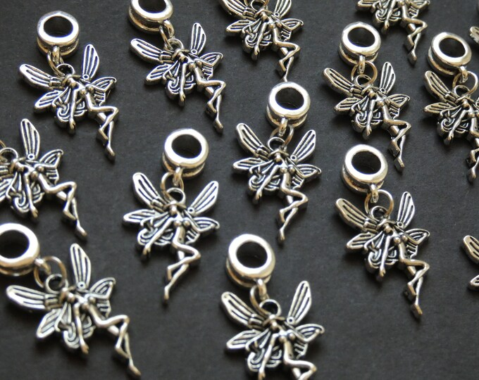 33mm European Fairy Drops, Etched Fairy Dangle Beads, Fairy Drop Bead, Pewter Drop, 33mm Drop, Fairy Dangle Pendant, Fairy Dangle Charm