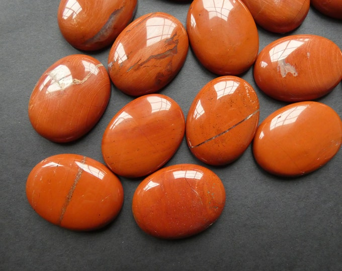 40x30mm Natural Red Jasper Cabochon, Oval Stone, Polished Gem, Natural Gemstone, Extra Large Jasper Stone, Deep Red Cab, Wire Wrapping Stone