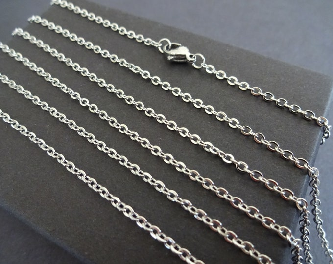 304 Stainless Steel 24 Inch Cross Chain, Necklace Chain, Necklace Making, Basic Chain, Simple Chain, Link Chain Necklace, Lobster Claw Clasp