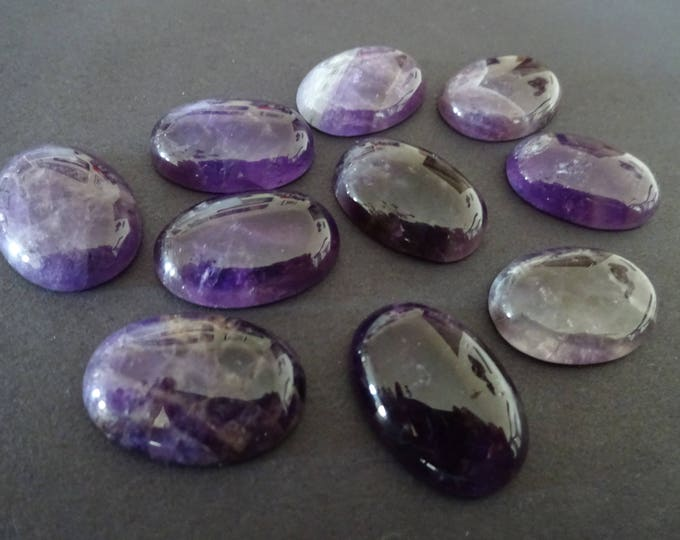 25x18mm Natural Amethyst Gemstone Cabochon, Oval Cabochon, Polished Gem, Gemstone Cabochon, Natural Gemstone, Purple Amethyst