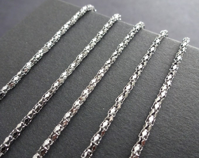 10 Meters 304 Stainless Steel Popcorn Chain, 2mm Decorative Chain Bulk Lot, Silver Color, Necklace and Bracelet Supply, Unique and Elegant