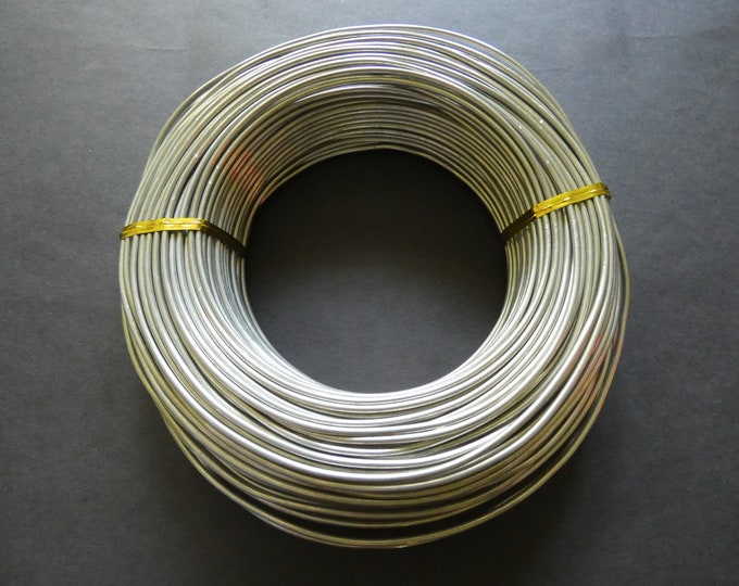 55 Meters Of 2mm Gray Aluminum Jewelry Wire, 2mm Diameter, 500 Grams Of Beading Wire, Light Gray Metal Wire, Jewelry Making & Wire Wrapping