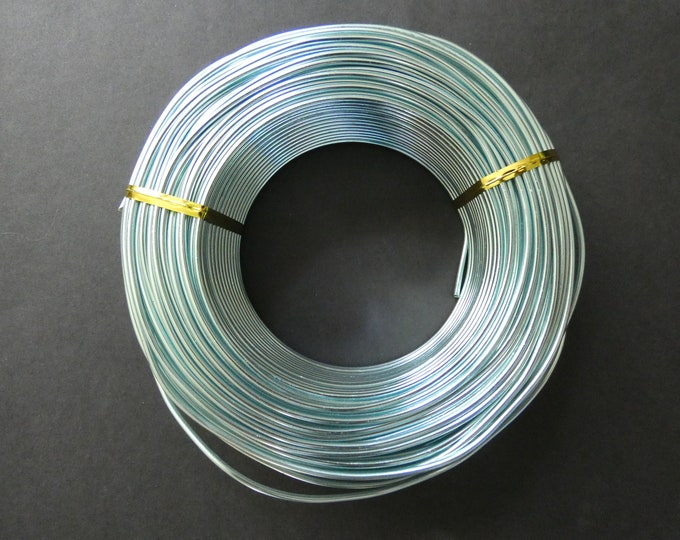 55 Meters Of 2mm Turquoise Aluminum Jewelry Wire, 2mm Diameter, 500 Grams Of Beading Wire, Blue Metal Wire, Jewelry Making & Wire Wrapping