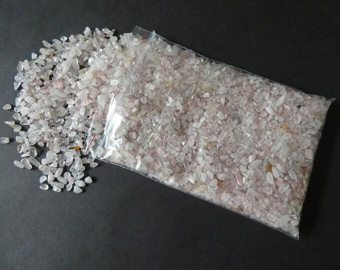 250 Grams Natural Rose Quartz Chips, Undrilled, 2-8x2-4mm Size, Half Pound, 8.8 Ounces, No Holes, Pink Quartz Nuggets, About 4,250 Pieces