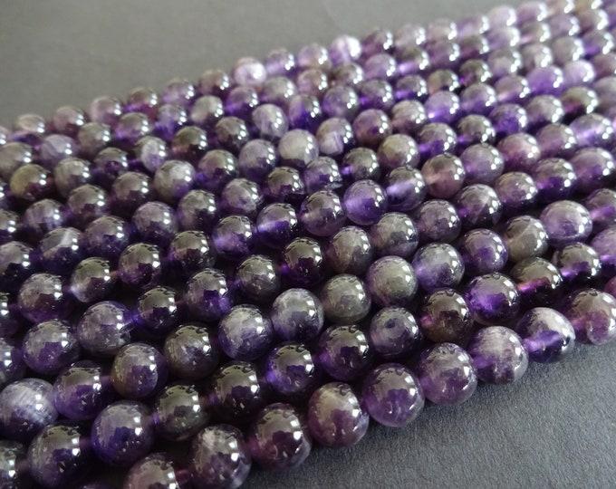 6mm Natural Amethyst Beads, Round Gemstone Beads, Natural Stone, Purple Bead, 6mm Gemstone, Round Amethyst Beads, Beautiful Purple, 68 beads