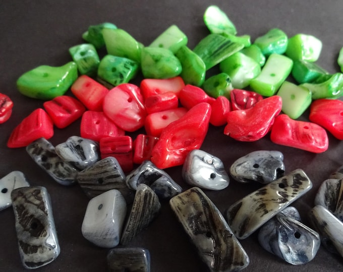 8-17mm Dyed Natural Shell Beads, Drilled Shells, Shell Pieces, Seashells, Natural Shell, Colored Shell, Beach Shells, Dyed Shell, Rainbow