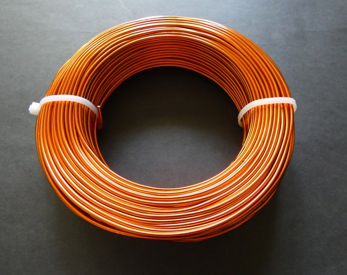 55 Meters Of 2mm Orange Red Aluminum Jewelry Wire, 2mm Diameter, 500 Grams Beading Wire, Orange Metal Wire, Jewelry Making & Wire Wrapping