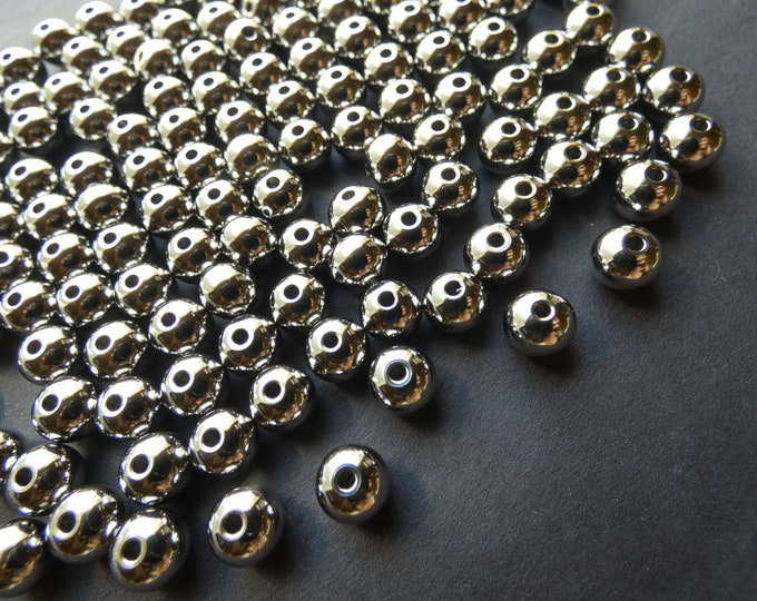 Stainless Steel 8mm Ball Beads, Silver Color, 1.5mm Hole, Classic Round Beads, Jewelry Making Supply, Metallic, Modern Style, Steel Bead