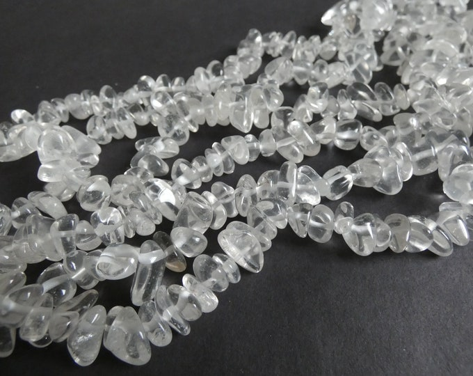 15-16 Inch 10-12mm Natural Quartz Nugget Beads, About 90 Stones, Clear Quartz, Transparent, Clear Stone, Quartz Crystal Chips, Drilled Gems