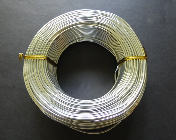 55 Meters Of 2mm Silver Aluminum Jewelry Wire, 2mm Diameter, 500 Grams Of Beading Wire, Silver Metal Wire For Jewelry Making & Wire Wrapping