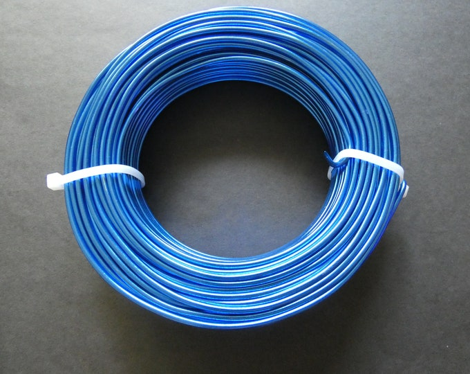 35 Meters Of 2.5mm Blue Aluminum Jewelry Wire, 2.5mm Diameter, 500 Grams Of Beading Wire, Royal Blue Metal Wire For Jewelry Making, Wire Lot