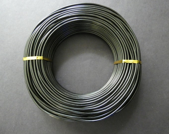 35 Meters Of 2.5mm Black Aluminum Jewelry Wire, 2.5mm Diameter, 500 Grams Of Beading Wire, Black Metal Wire, Jewelry Making & Wire Wrapping