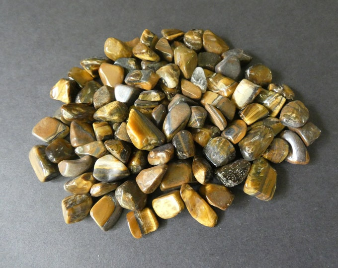 200 Grams Natural Tiger Eye Nuggets, Undrilled, 6-22x4-7mm, No Holes, Lot Of Nuggets, Tigereye Nuggets and Chips, Tiger's Eye Stones, Brown