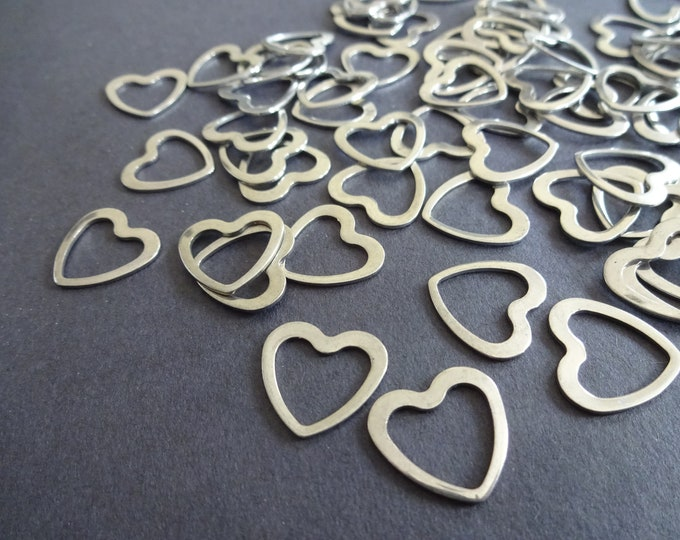 14mm 304 Stainless Steel Heart Link, Metal Link, Silver Color, Bracelet Link, Jewelry Making, Jewelry Link, Necklace Links, Linking Rings