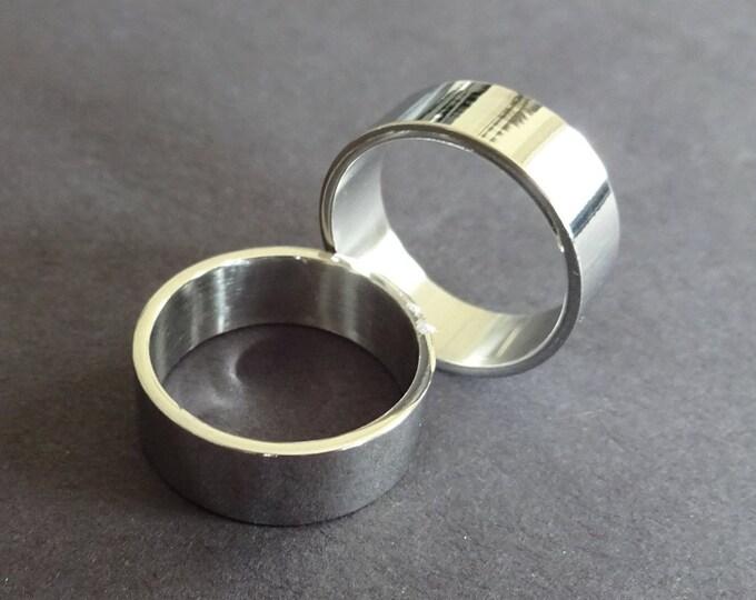 Classic Titanium Steel Ring, Basic Band, Size 5-13, Handcrafted Titanium Ring, Men's Ring, Unisex Jewelry, Wedding Band, Engagement Ring