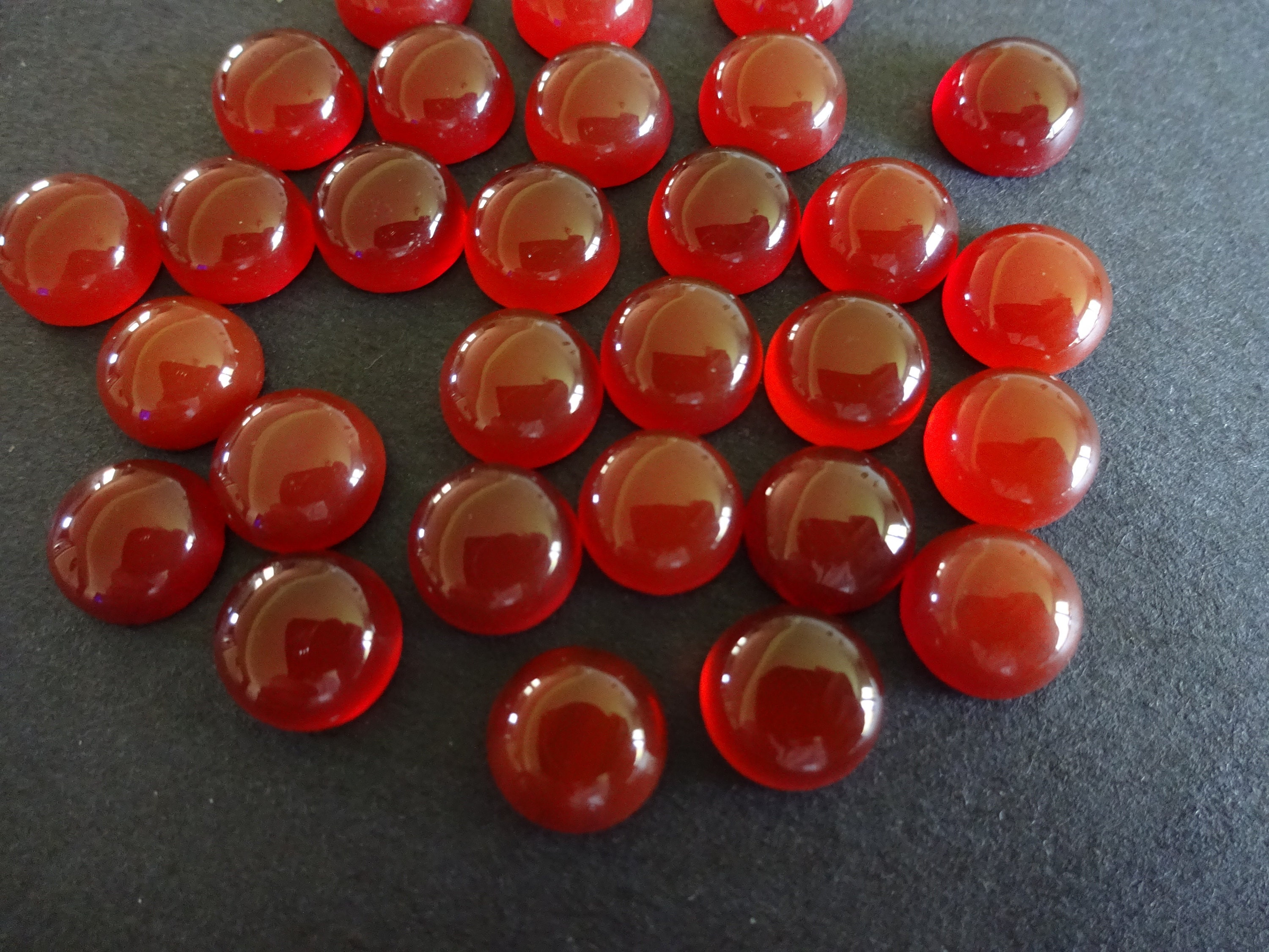 Natural Gemstone Smooth Polished Cabochon 1pcs 6mm Natural Carnelian Cabochon Not Dyed Round Shape Cabochon Treatment: Untreated
