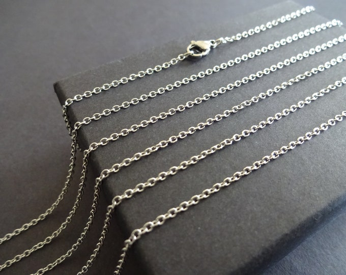 10 Pack of 304 Stainless Steel 20 Inch Cross Chain, Necklace Chain, Jewelry Making Chain, Necklace Making, Basic Chain, Simple Chain, Lot