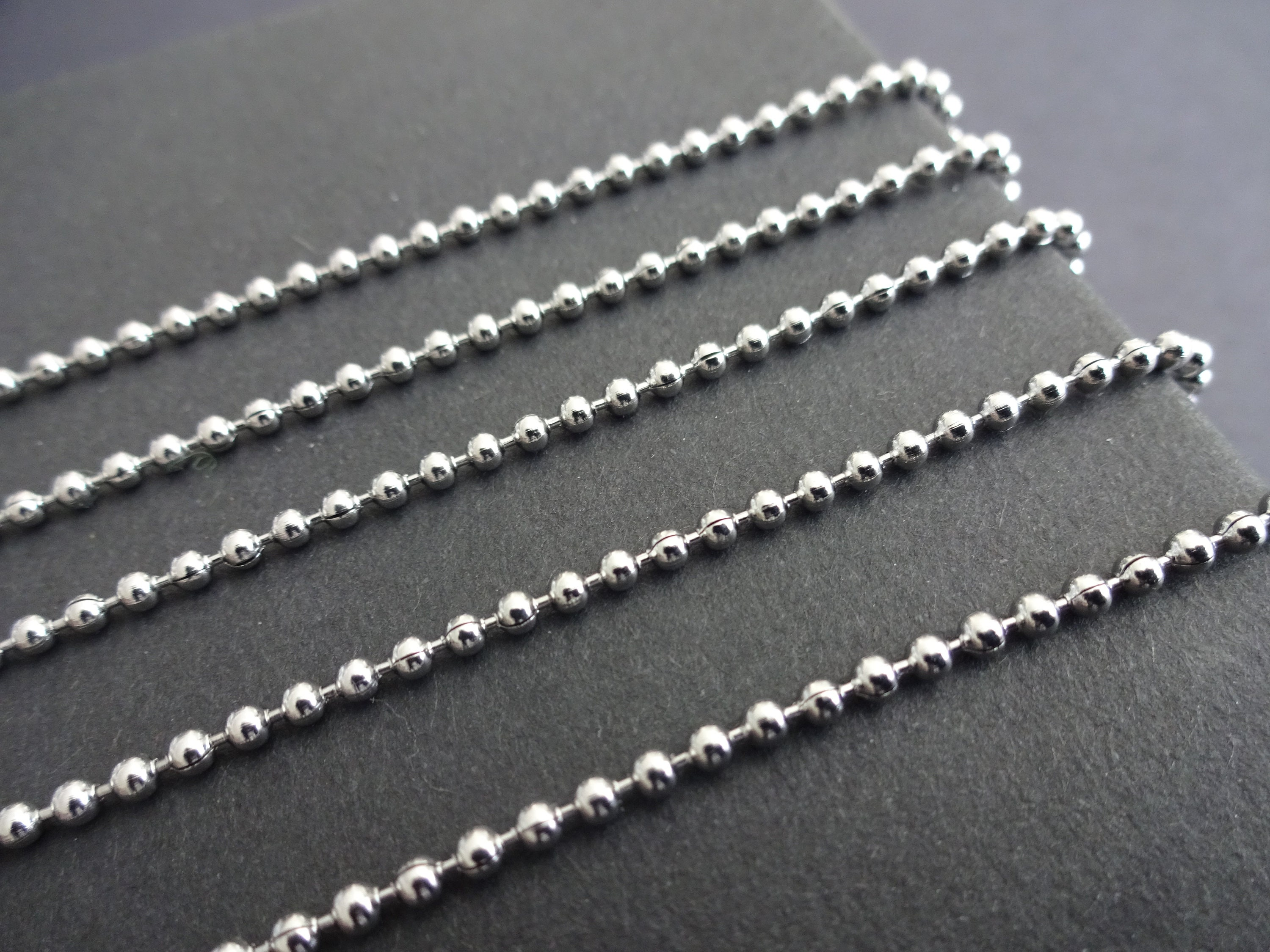d14651dac1d73 50 Meters 304 Stainless Steel Ball Chain, Soldered, 2mm Chain Bulk ...
