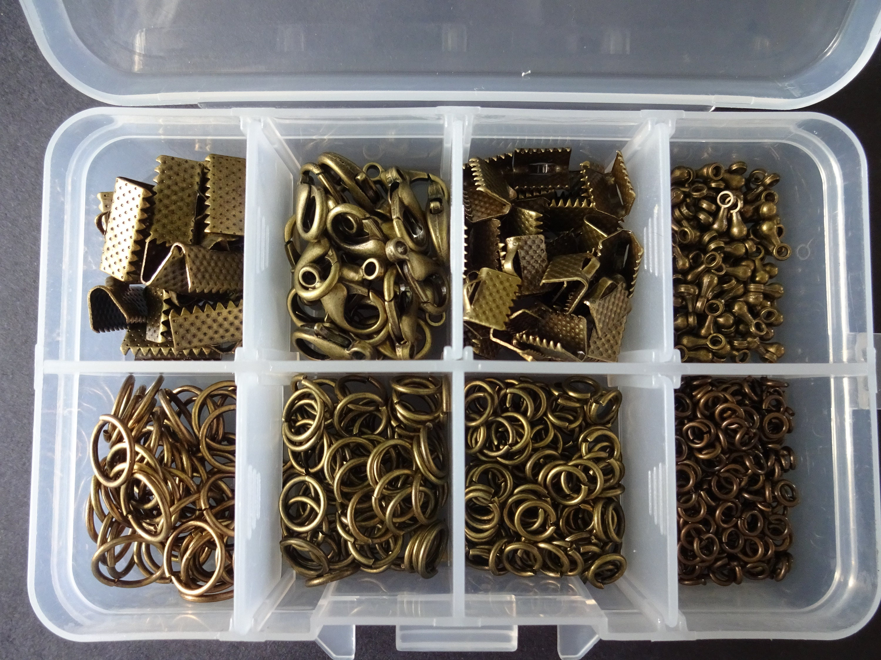 Jewelry Findings Kit 10mm Lobster Claw Clasps and Jump Rings