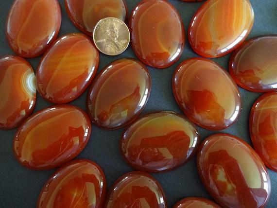 30X20mm 10pcs Natural Orange Dragon Veins Agate Stone Oval Beads CAB CABOCHON
