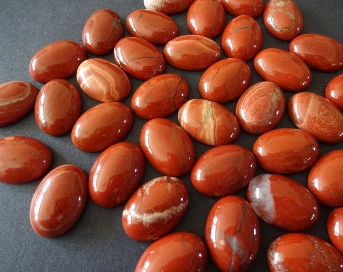 18x13x5mm Natural Red Jasper Gemstone Cabochon, Oval Cabochon, Polished Gem, Stone Cabochon, Natural Gemstone, Polished, Jasper Stone, Brown