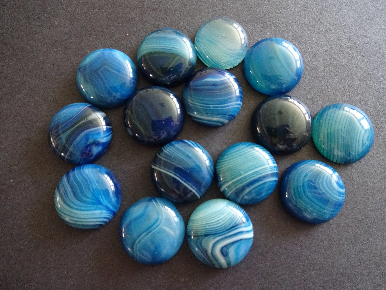 63x40x6 mm Natural Striped Agate Banded Agate Pendant Gemstone Dark Blue Color Pear Shape Massive Pendant