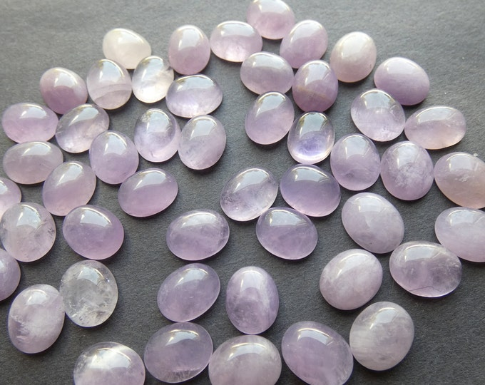 10x8mm Natural Mauve Jade Gemstone Cabochon, Oval Cab, Polished Gem Cabochon, Natural Stone, Jade Stone, Light Purple Jade, Lilac Gem Cab