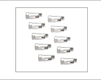 Bulk 50 Brooch Pins, safety catch, safety brooch fasteners, brooch findings, UK seller, jewellery making, pinbacks, badge findings