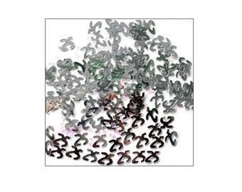 Silver 25th Anniversary table confetti, wedding anniversary, Silver Wedding, 25th Wedding Anniversary, table decoration, UK seller, silver