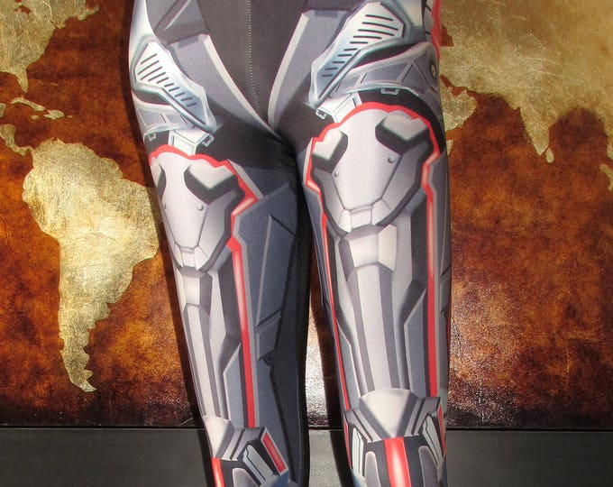 TAFI Anime Armor Leggings - Sci-Fi Fantasy Armour Costume Yoga Pants Galaxy CosPlay Print