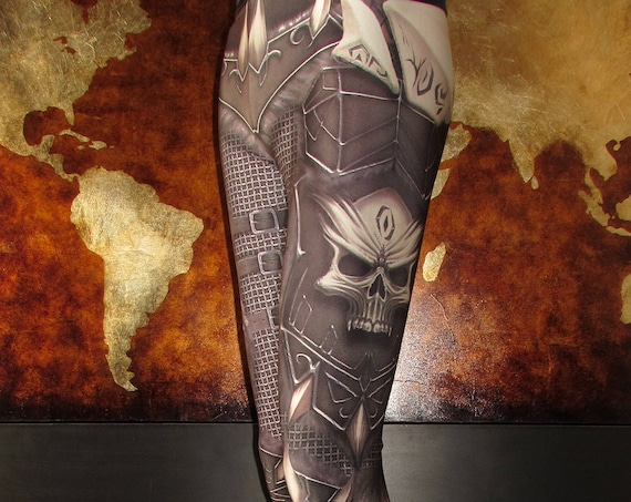 TAFI Skull Armor Leggings - Gothic Fantasy Armour WOW Costume Yoga Pants 2017 Galaxy CosPlay Print