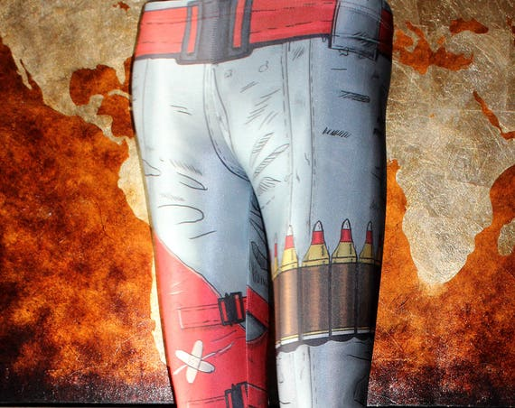 TAFI Borderlands Leggings - 2K Sci-Fi Video Game-inspired Body Armor Costume Yoga Pants CosPlay Designer Print