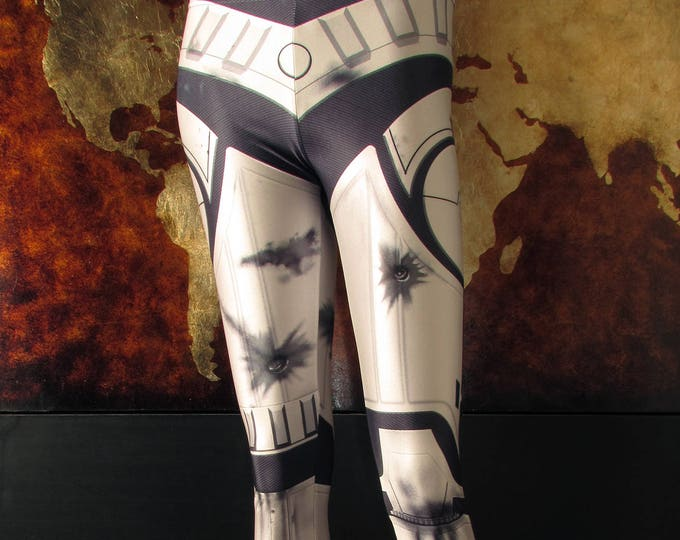 TAFI Stormtrooper Leggings - Custom Star Wars Last Jedi Body Armor Design Affordable Movie Costume CosPlay Yoga Print