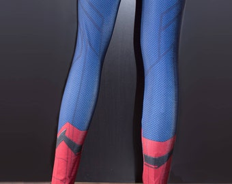 TAFI Spider-Man Movie Leggings - Custom Design Affordable Peter Parker Marvel Hero Costume CosPlay Yoga Print