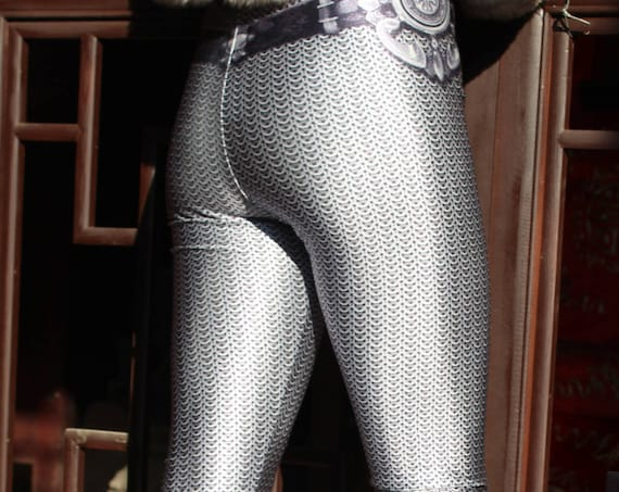 TAFI Chainmail Armor Leggings - Now in 8 Sizes - Original Armour Galaxy Alternative 3D Printed Costume CosPlay or Yoga Pants