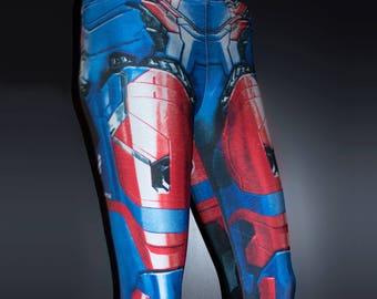 TAFI Iron Patriot Leggings - Iron Man Custom Design Affordable James Rhodes Marvel Hero Costume CosPlay Print