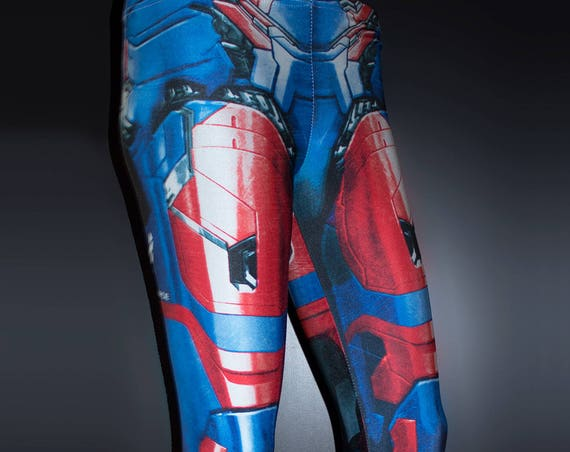 TAFI Iron Patriot Leggings - Iron Man Custom Design Affordable James Rhodes Marvel Hero Costume CosPlay Print