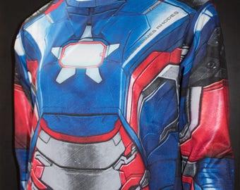 TAFI Iron Patriot Shirt - Iron Man Custom Design Affordable James Rhodes Marvel Film Hero Costume CosPlay Print