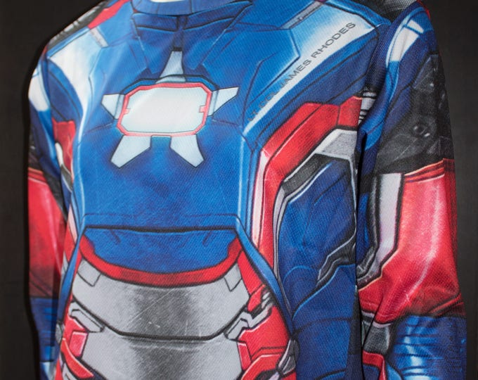 TAFI Iron Patriot Shirt - Iron Man Custom Design Affordable James Rhodes Marvel Film Hero Costume CosPlay Print